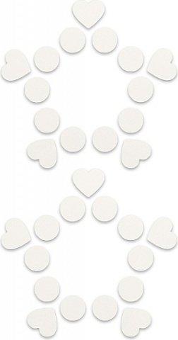 Пестисы открытые круги и сердца белые sh-ouns015wht