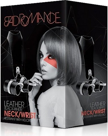 Кожаный бандаж с оковами bad romance black sh-bad011, фото 2