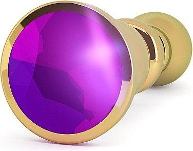 анальная пробка 4,8 r2 rich gold/purple sapphire sh-ric002gld, фото 2