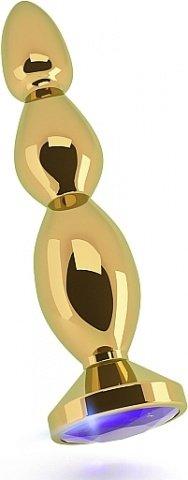 анальная пробка 4,8 r3 rich gold/purple sapphire sh-ric003gld