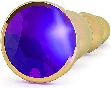 анальная пробка 4,8 r3 rich gold/purple sapphire sh-ric003gld, фото 2