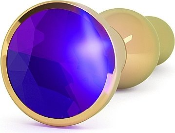 анальная пробка 4,8 r4 rich gold/purple sapphire sh-ric004gld, фото 2