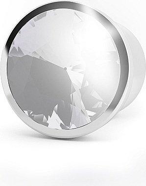 анальная пробка 4,5 r6 rich silver/clear sapphire sh-ric006sil, фото 2