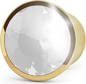 анальная пробка 4,5 r6 rich gold/clear sapphire sh-ric006gld, фото 2