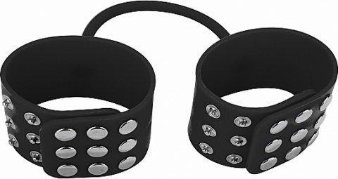 Силиконовые наручники ouch! black sh-ou040blk