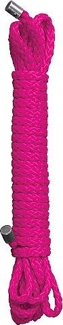 Веревка для бондажа Kinbaku 10 m. Pink SH-OU043PNK