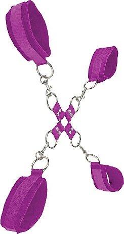 �������� ��� ������� Velcro hand and leg cuffs purple SH-OU052PUR