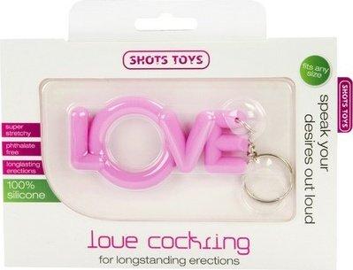 Эрекционное кольцо Love Cocking розовое, фото 2