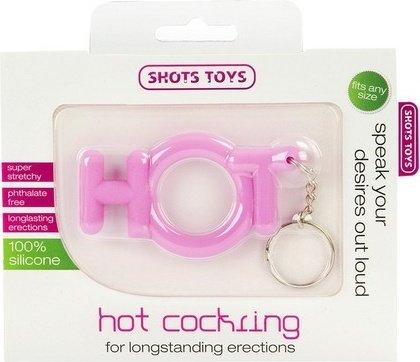 Эрекционное кольцо Hot Cocking розовое, фото 2