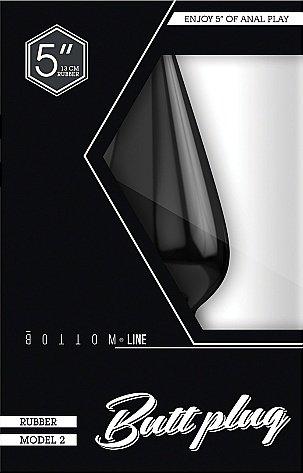 Анальный стимулятор Bottom Line 5 Model 2 rubber Black SH-BTM006BLK, фото 2