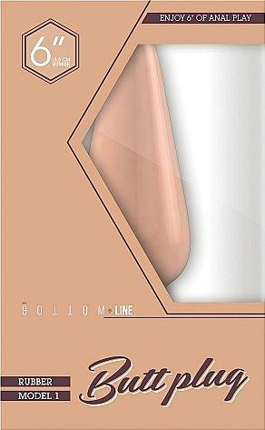 Анальный стимулятор Bottom Line 6 Model 1 Rubber Flesh SH-BTM003FLE, фото 2