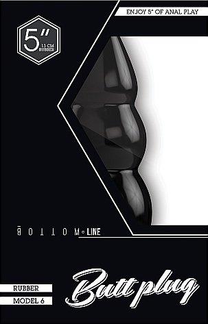 Анальный стимулятор Bottom Line 5 Model 6 Black SH-BTM022BLK, фото 2
