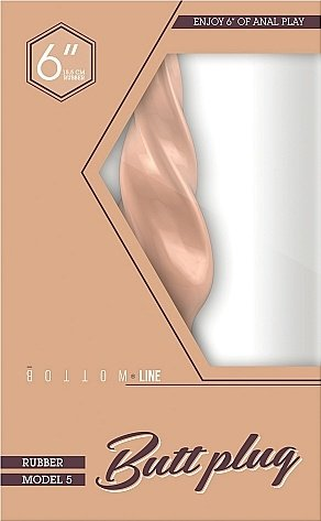 Анальный стимулятор Bottom Line 6 Model 5 Flesh SH-BTM019FLE, фото 2