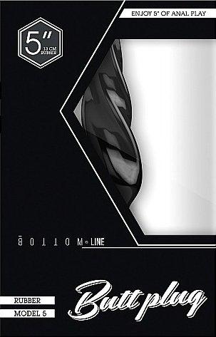 Анальный стимулятор Bottom Line 5 Model 5 Black SH-BTM018BLK, фото 2