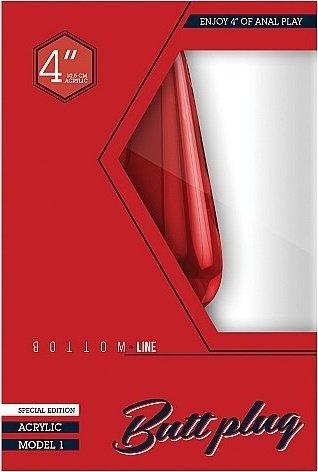 Анальный стимулятор Bottom Line 4 Model 1 Acrylic SH-BTM001ACR, фото 2