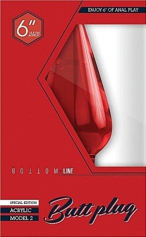 Анальный стимулятор Bottom Line 6 Model 2 Acrylic Red SH-BTM007ACR, фото 2