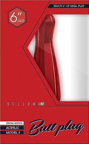 Анальный стимулятор Bottom Line 6 Model 3 Acrylic Red SH-BTM011ACR, фото 2