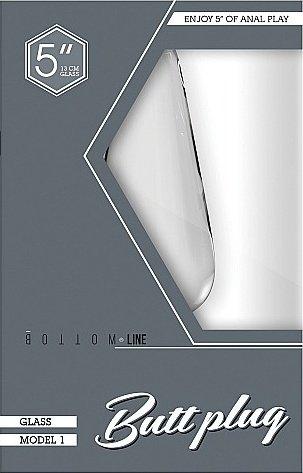 Анальный стимулятор Bottom Line 5 Model 1 Glass SH-BTM002GLS, фото 2