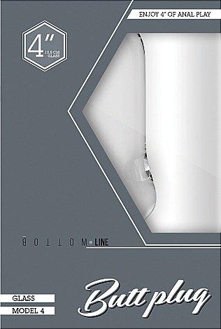 Анальный стимулятор Bottom Line 4 Model 4 Glass SH-BTM013GLS, фото 2