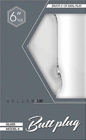 Анальный стимулятор Bottom Line 6 Model 4 Glass SH-BTM015GLS, фото 2