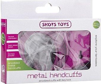 металлические наручники shots toys pink sh-sht347pnk, фото 2