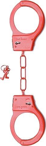 металлические наручники shots toys red sh-sht347red