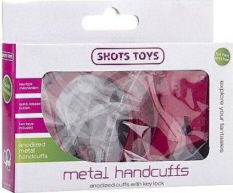 металлические наручники shots toys red sh-sht347red, фото 2