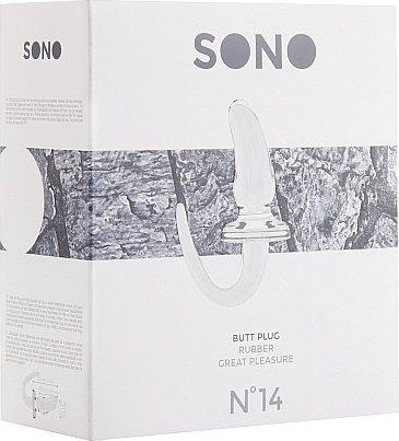 анальная пробка 4 inch sono прозрачная sh-son014tra, фото 2