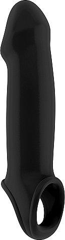 насадка на пенис черная sono sh-son017blk 25 см