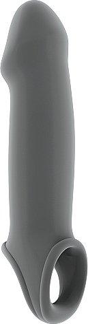 насадка на пенис серая sono sh-son017gry 25 см