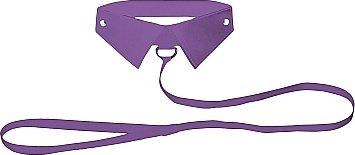 кожанный воротник с поводком purple ouch! sh-ou144pur, фото 2