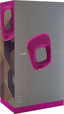 вибрирующее кольцо senca - pink sh-vive001pnk, фото 2