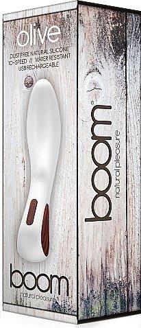 Вибратор boom olive -white sh-boom002wh, фото 2