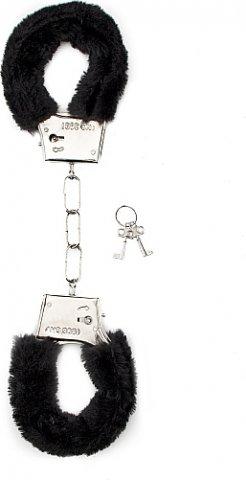 ��������� Furry Handcuffs Black SH-SHT255BLK