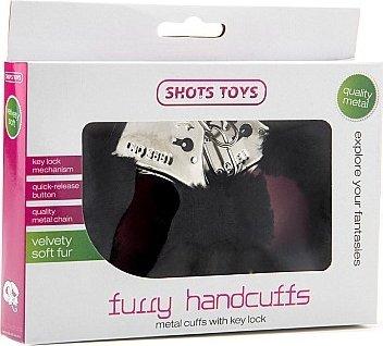 Наручники Furry Handcuffs Black SH-SHT255BLK, фото 2