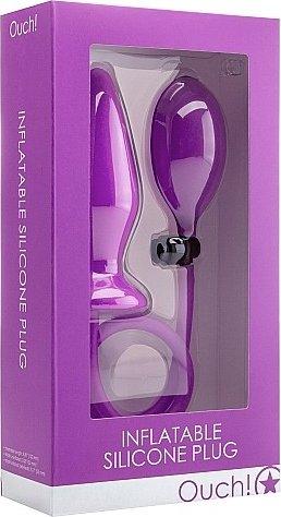 анальный стимулятор с грушей ouch! purple sh-ou090pur, фото 2