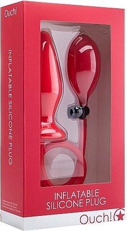 анальный стимулятор с грушей ouch! red sh-ou090red, фото 2