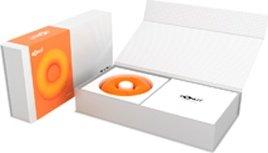 Универсальный вибромассажер donut orange оранжевый, фото 5