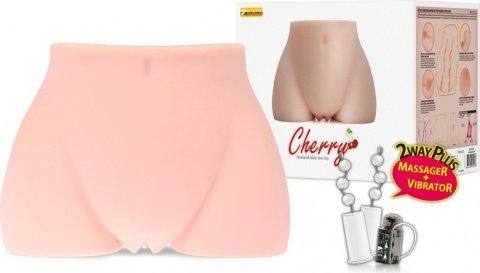 Мастурбатор вагина и анус полуторс с вибрацией, ротацией, голосом cherry