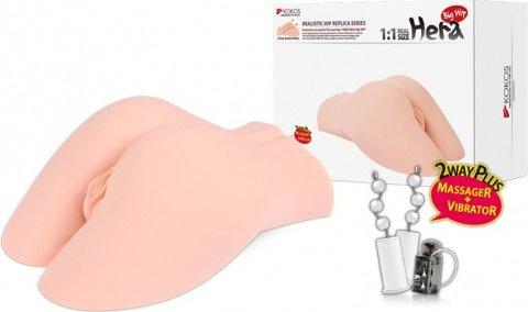 Мастурбатор девственница 3d вагина, анус полуторс с вибрацией, ротацией, голосом hera butt, фото 3
