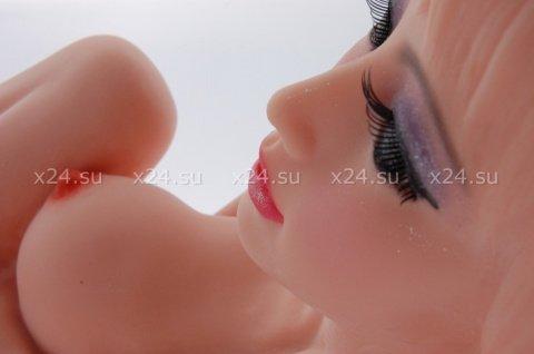 Мастурбатор женское тело 3d, три отверстия с вибрацией ротацией и голосом, hera 3, фото 2