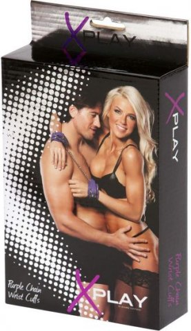 Наручи x-play love chain wrist cuffs purple 2070xp, фото 2