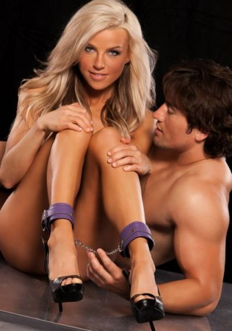Поножи x-play love chain ankle cuffs purple 2071xp