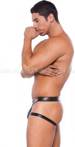 Сексуальные мужские трусы Wet Look Brief Style Jock Strap (под винил), фото 2