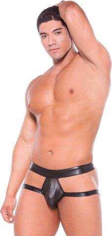 Сексуальные мужские трусы Wet Look Brief Style Jock Strap (под винил), фото 3