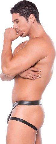 Сексуальные мужские трусы Wet Look Brief Style Jock Strap (под винил), фото 4