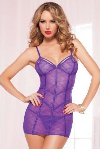 Сорочка на тонких бретелях purple diamond, фото 2