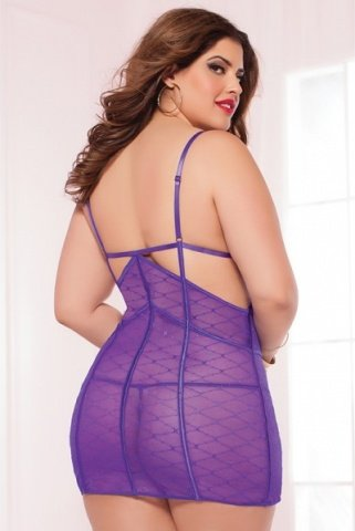 Сорочка на тонких бретелях purple diamond, фото 3