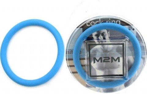 Нитриловое эрекционное голубое кольцо d=50 мм M2M