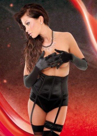 Корсет + трусы + подвязка черные, фото 2